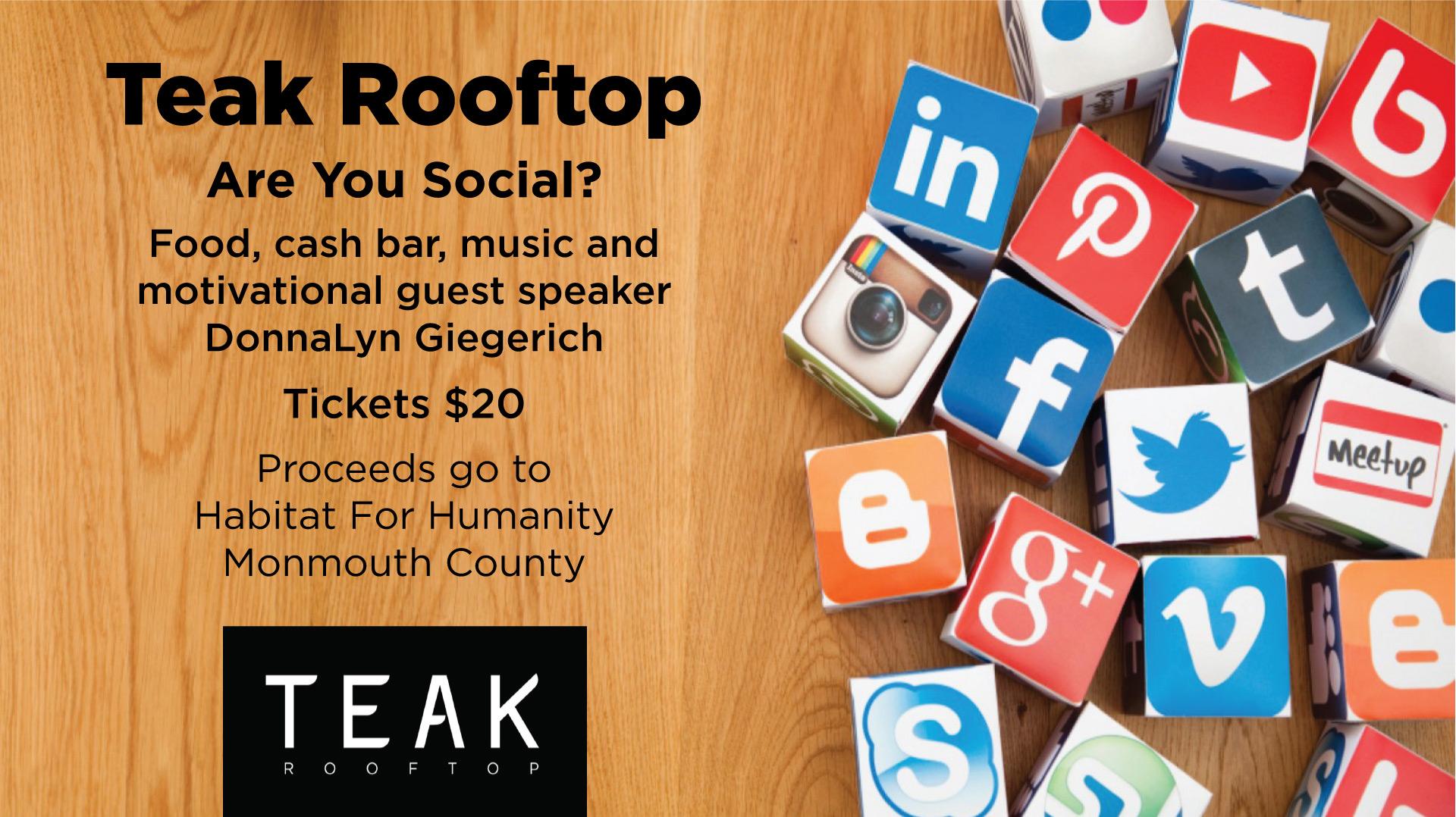 Teak Rooftop at Red Bank, NJ